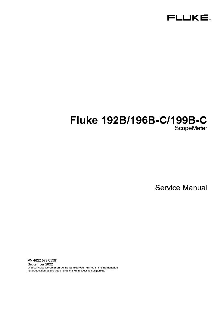 fluke 192b 196b c 199b c scopemeter service manual download rh elektrotanya com Fluke Scope Fluke Automotive ScopeMeter