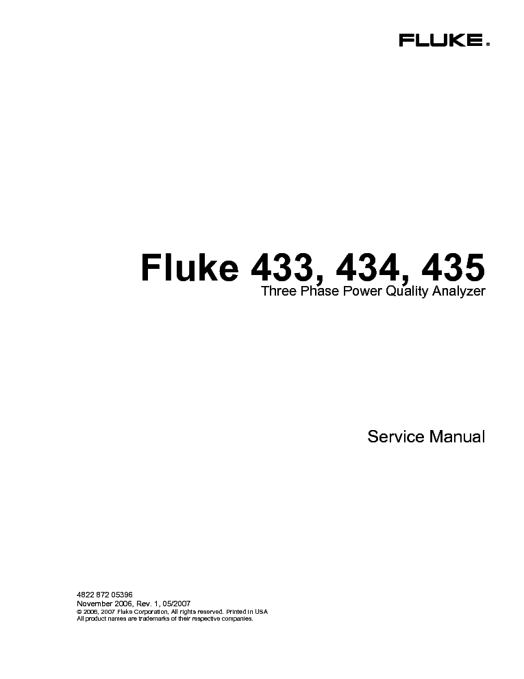 FLUKE 45 DUAL DISPLAY MM OP 1999 SM Service Manual download