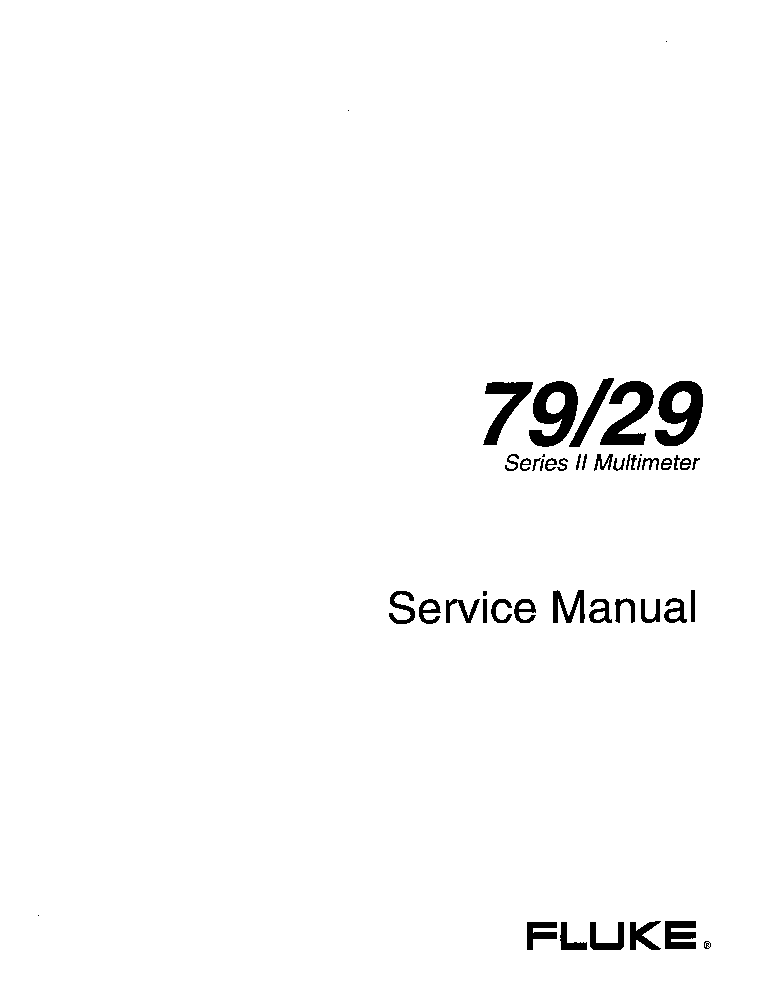 FLUKE 79-29 DMM SM service manual