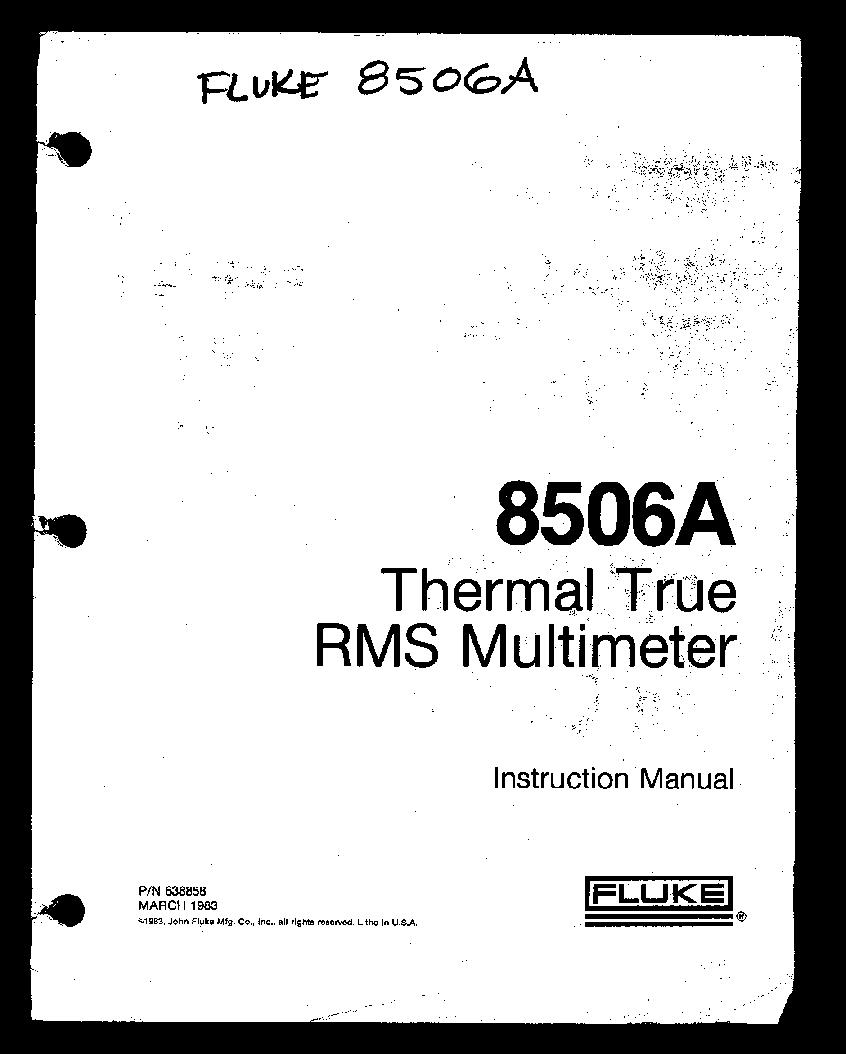 fluke 8506a service manual service manual download schematics rh elektrotanya com fluke 189 service manual fluke service manual 1883791