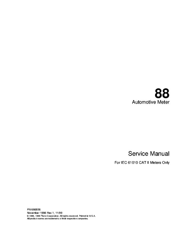 Fluke 88 Digital Multimeter Manual : Fluke b rf signal sm service manual free download
