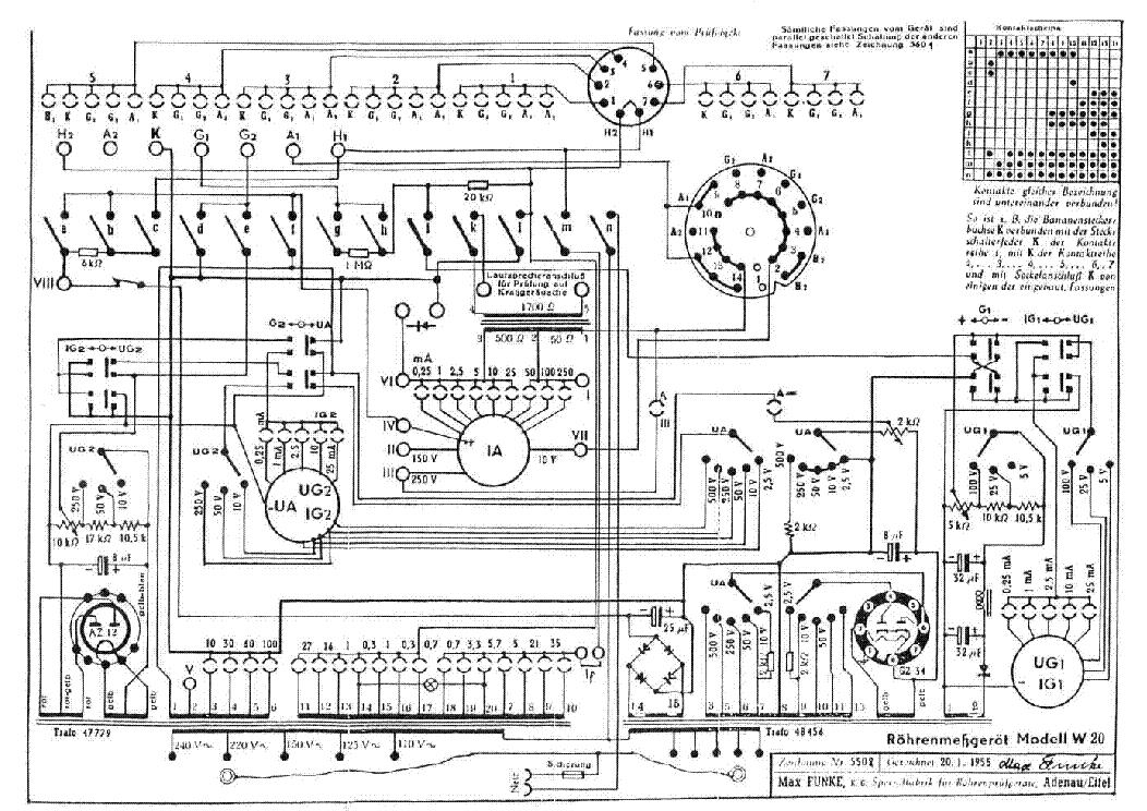 funke w20 tube tester sch service manual download