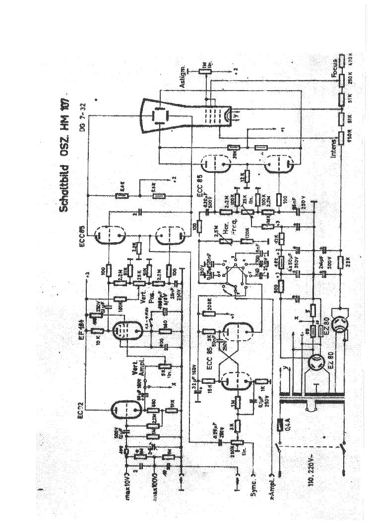 hameg_hm107_oscilloscope_sch.pdf_1 Oscilloscope Schematic on