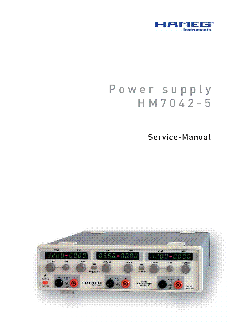 HAMEG HM7042-5 POWER SUPPLY SM service manual (1st page)