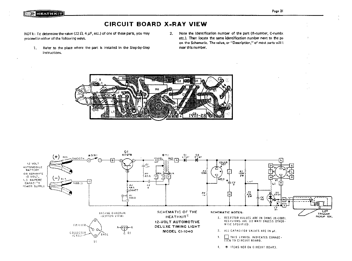 Heathkit Ci 1040 12v Automotive Timing Light 197p Gyujtasmero Timer Circuits Schematics Stroboszkop Sch Service Manual 1st
