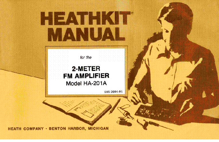 HEATHKIT HA-201A 10W 2M LINEAR AMPLIFIER 1978 SM Service Manual
