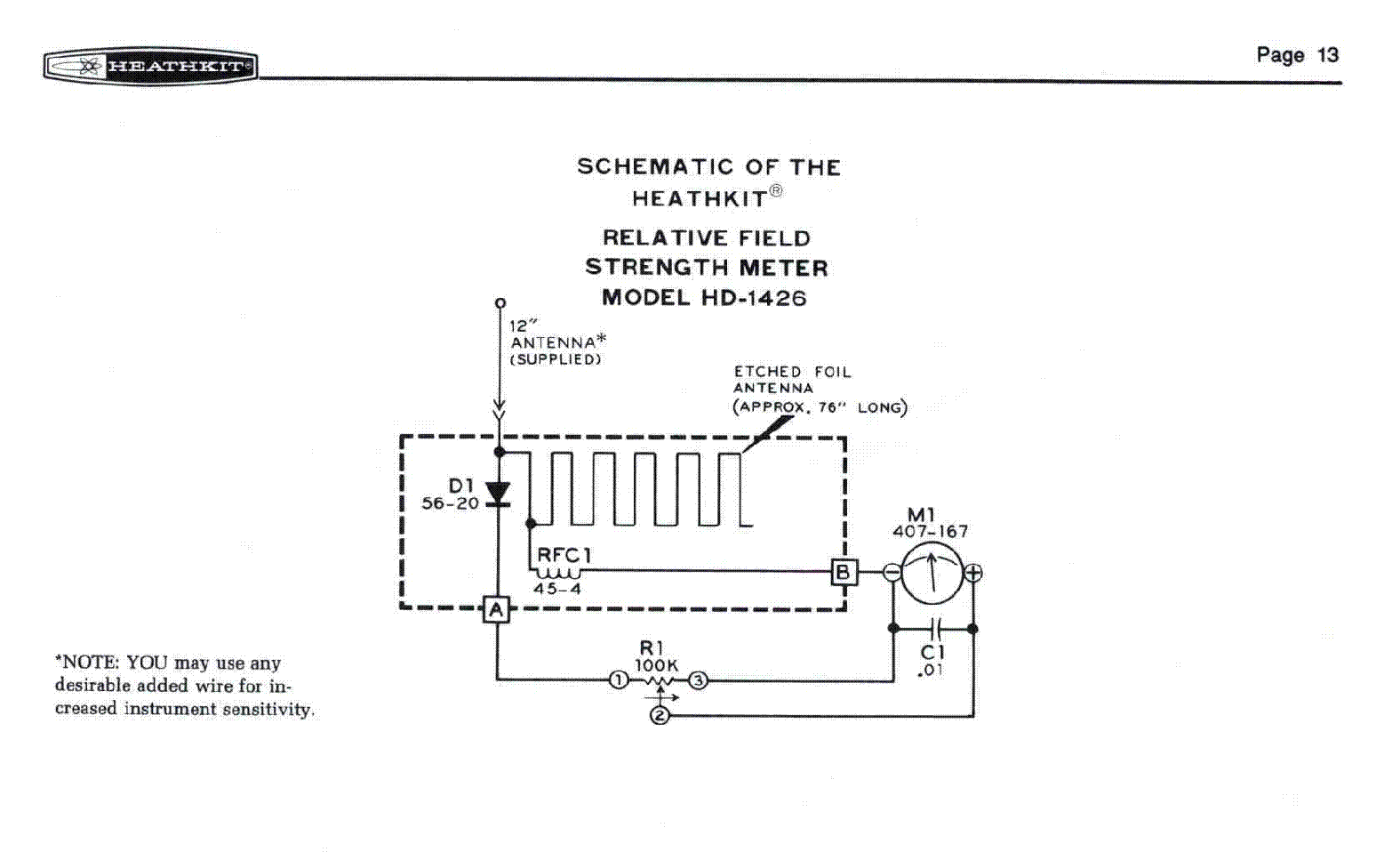 Field Strength Meter Kit : Heathkit oscilloscope schematic get free image