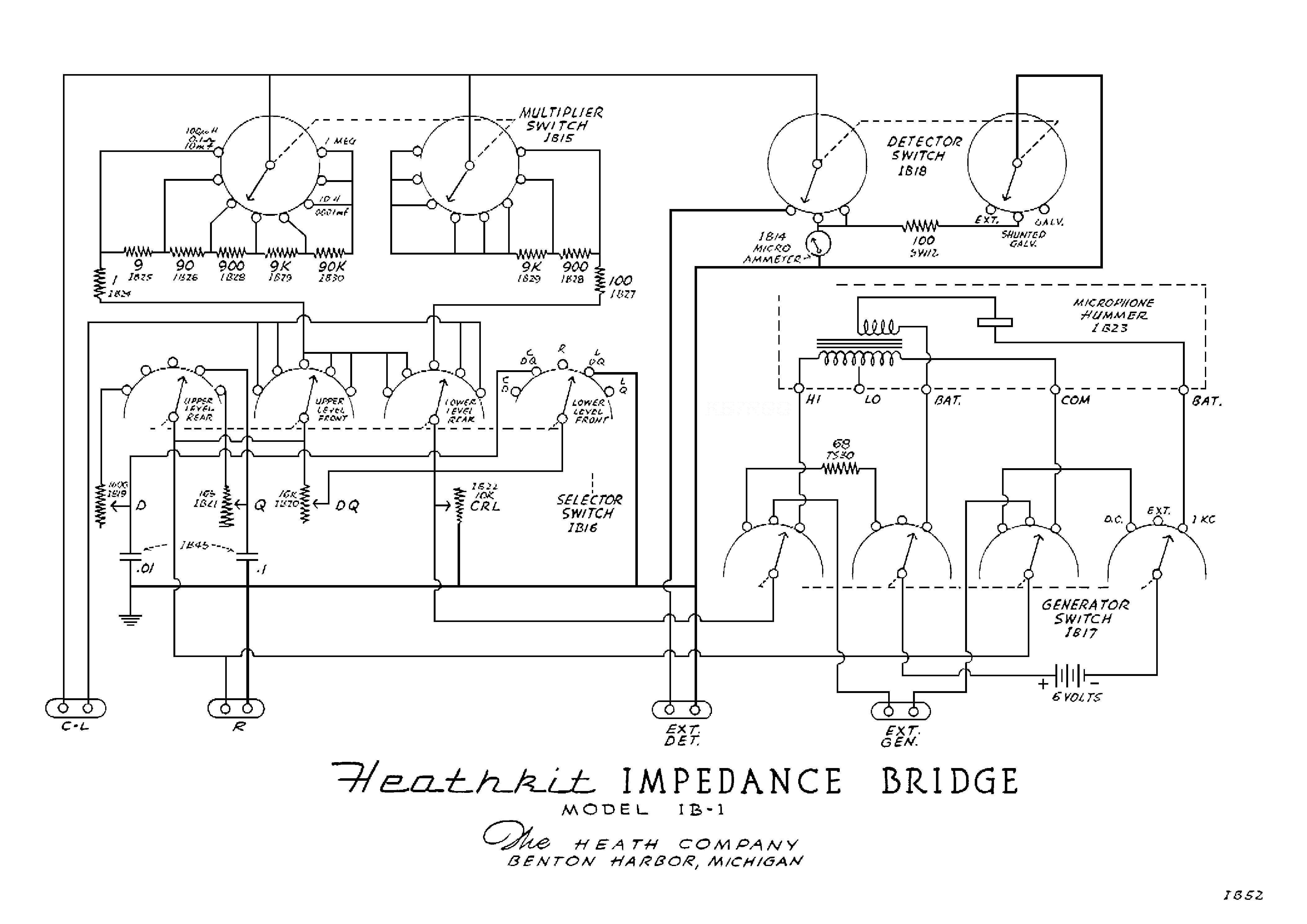 heathkit gd1u grid dip meter sch service manual download  schematics  eeprom  repair info for