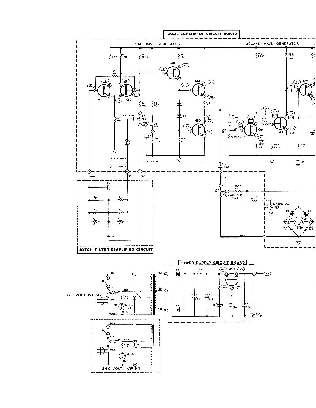 Heathkit Ig 18 Sine Square Audio Generator Sch Service Manual 120 Volt Wiring Diagram 1st Page
