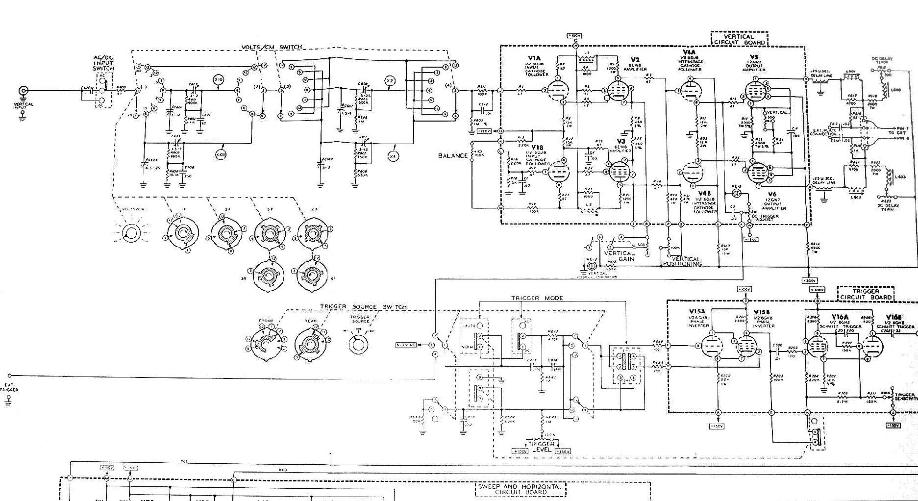 heathkit_io-14_laboratory_oscilloscope_sch.pdf_1 Oscilloscope Schematic on