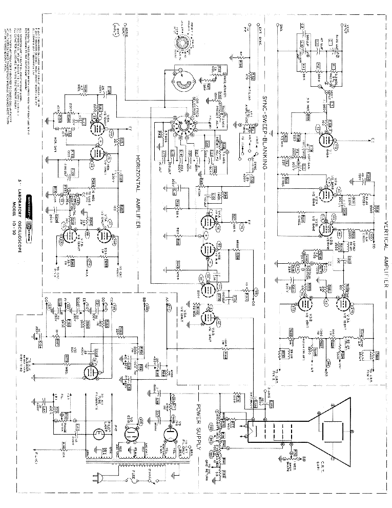 Heathkit Io 30 Oscilloscope Sch Service Manual Download Schematics