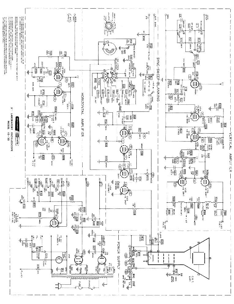 Heathkit Ip 20 Power Supply Sch Service Manual Download Schematics