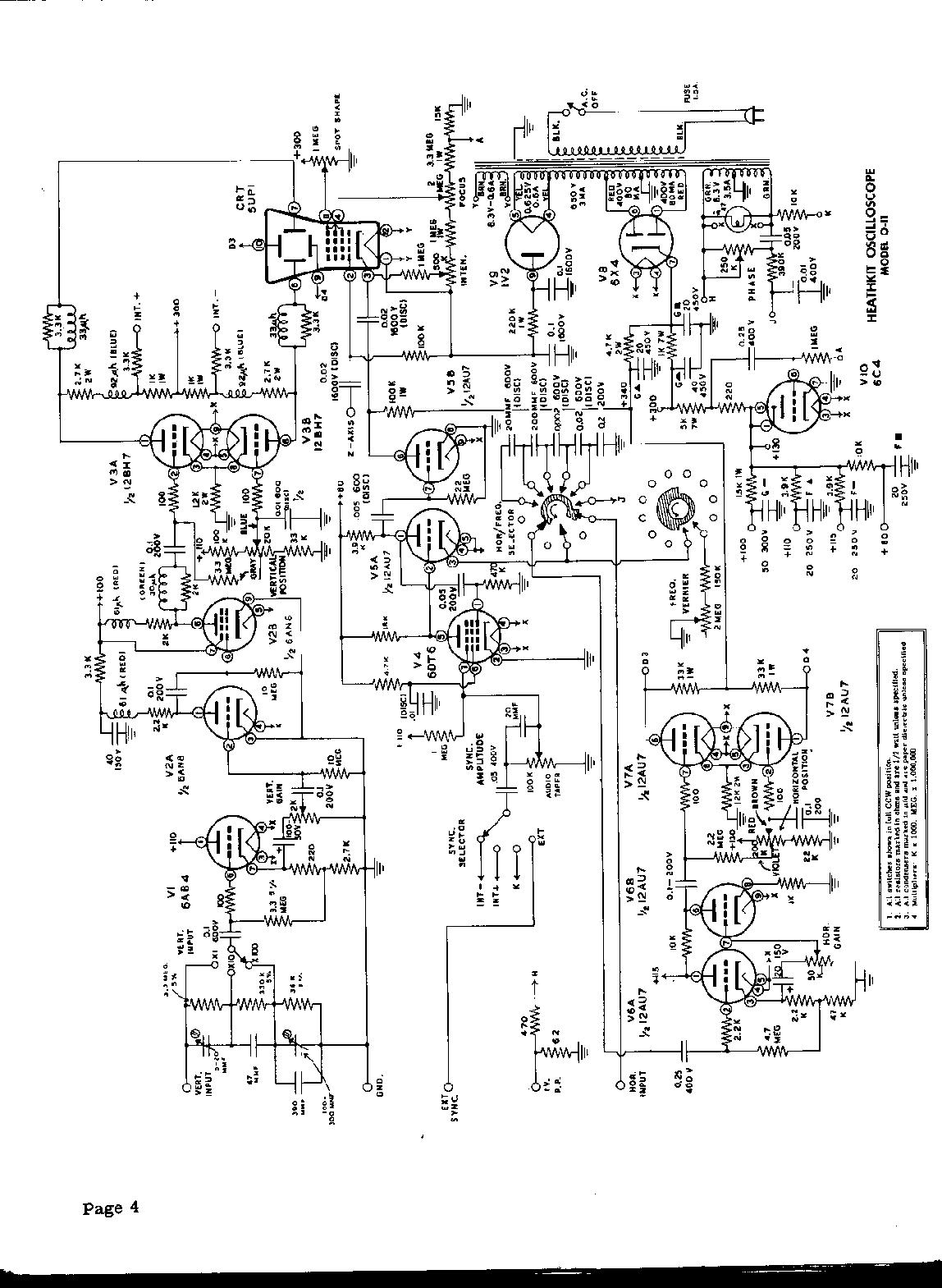 heathkit oscilloscope kit