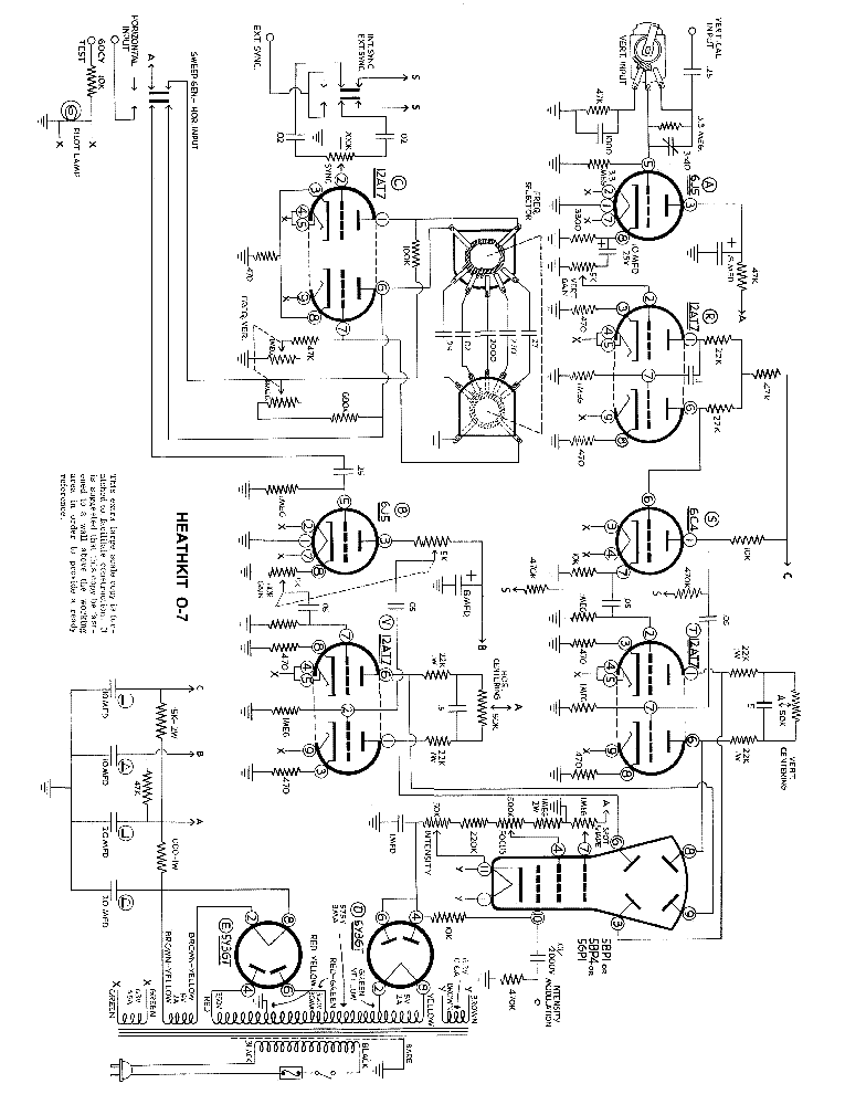 Heathkit Hp 23b Ac Power Supply Sch Service Manual Download