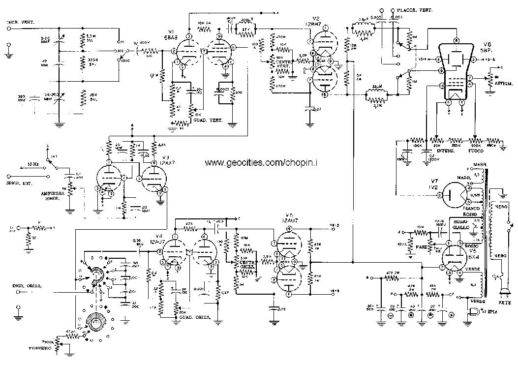 heathkit_om3_oscilloscope.pdf_1 Oscilloscope Schematic on