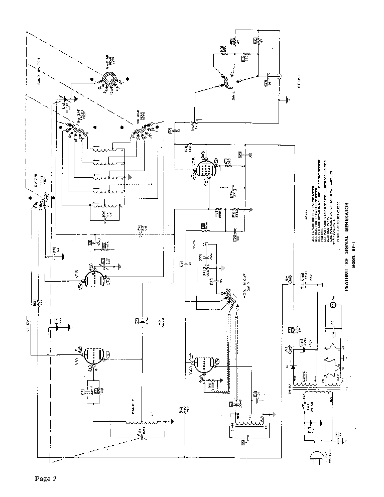 HEATHKIT RF-1 RF SIGNAL GENERATOR SCH Service Manual download ...