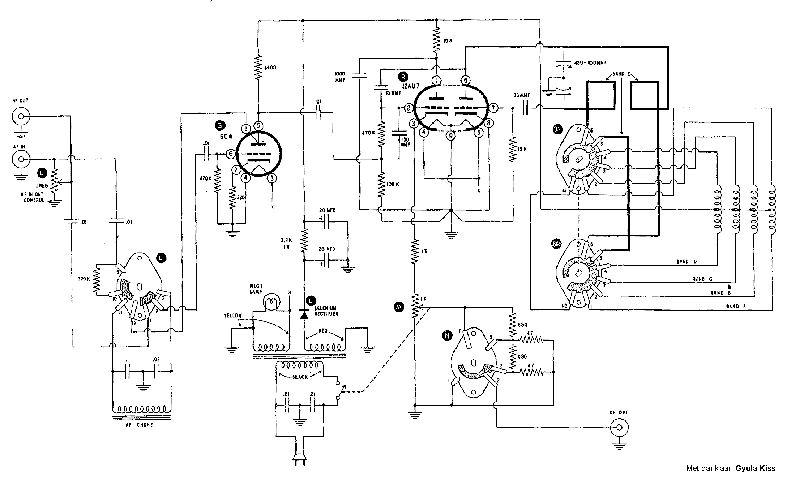 HEATHKIT SG8 SIGNAL GENERATOR SCH Service Manual download ...