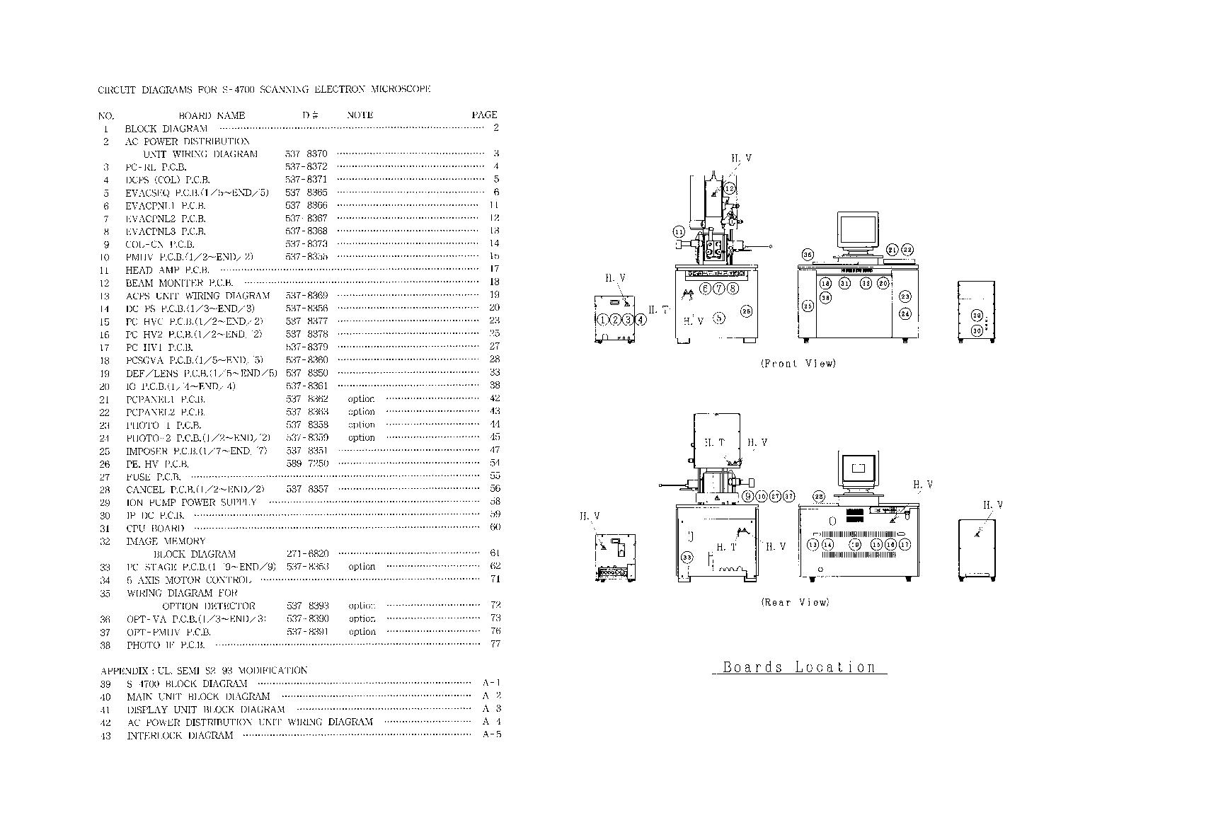 HITACHI    S4700 SCH Service    Manual    download     schematics