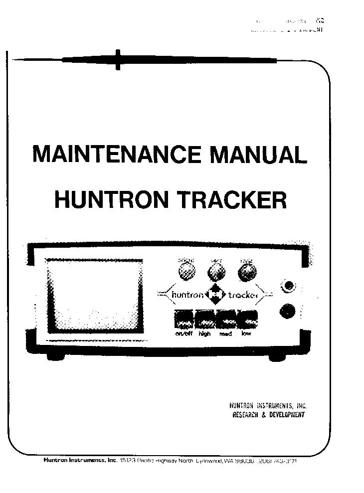 huntron tracker 1000 manual pdf download