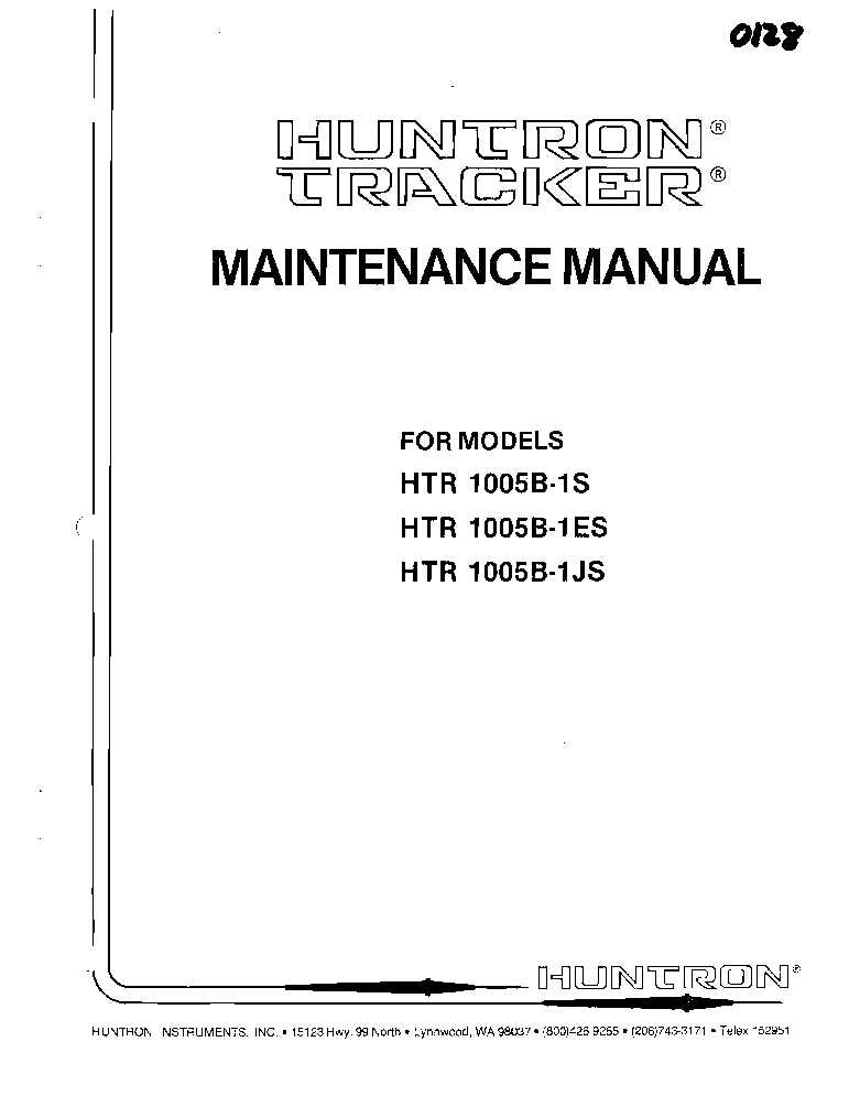 huntron tracker 2000 manual download