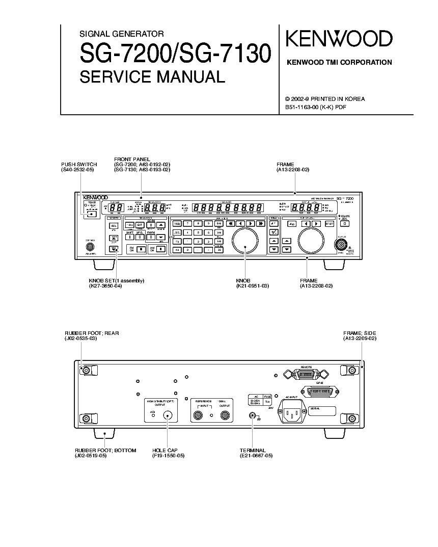 Kenwood Sg 7200 7130 Signal Gen Service Manual Download Wiring Diagram Free Schematic 1st Page