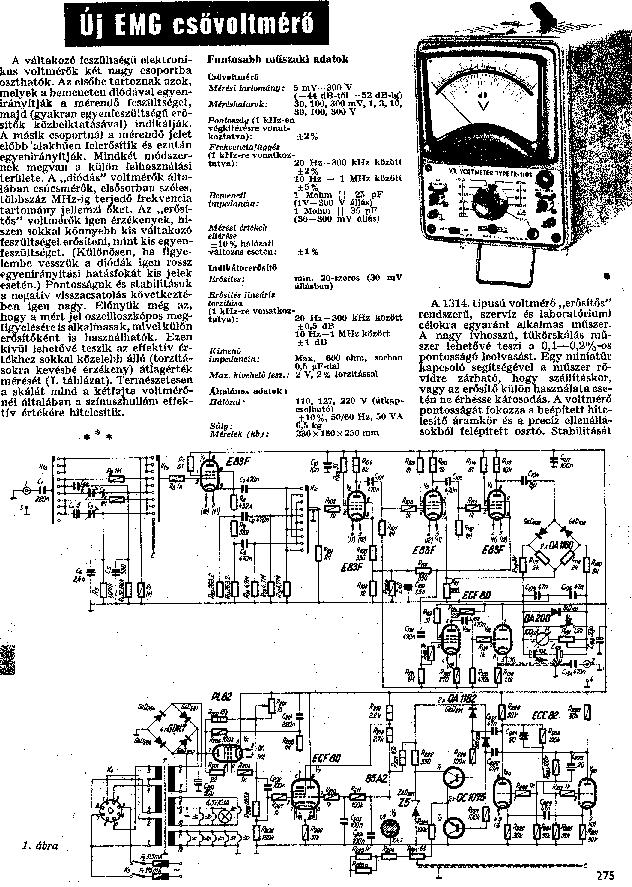 EMG 1314 CSOVOLTMERO Service Manual free download, schematics ...
