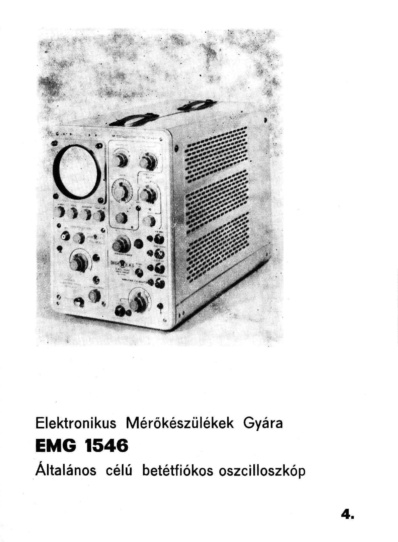 EMG 1546 OSZCILLOSZKOP Service Manual free download, schematics ...