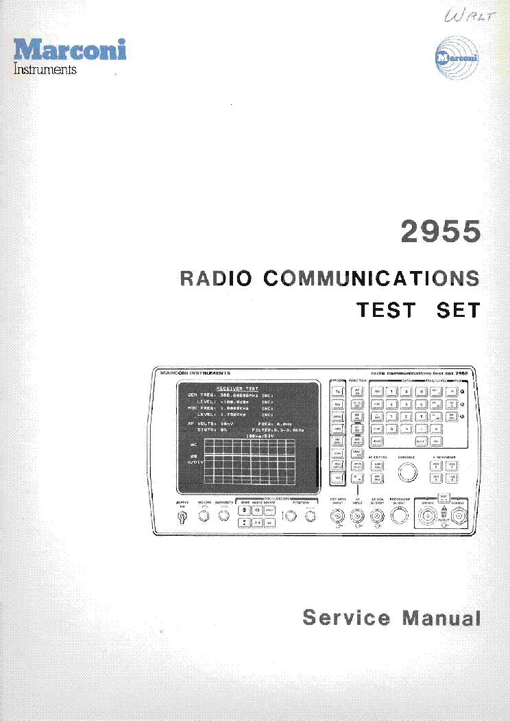 marconi 2955 communications tester vol 2 1985 full sm service manual rh elektrotanya com Word Manual Guide Kindle Fire User Guide