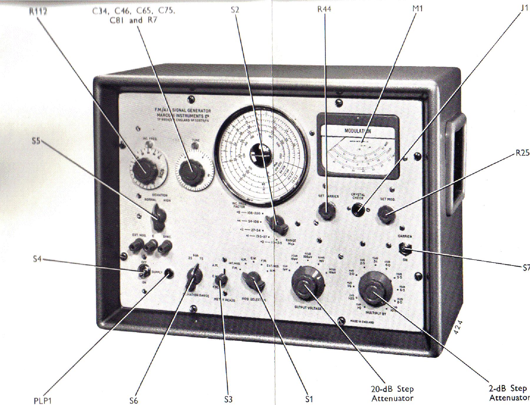 MARCONI TF995 1-220MHZ AM-FM SIGNALGENERATOR SCH Service