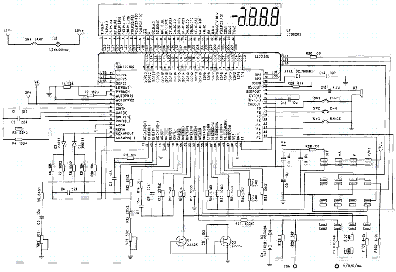mastech 8202 multimeter sch service manual download  schematics  eeprom  repair info for