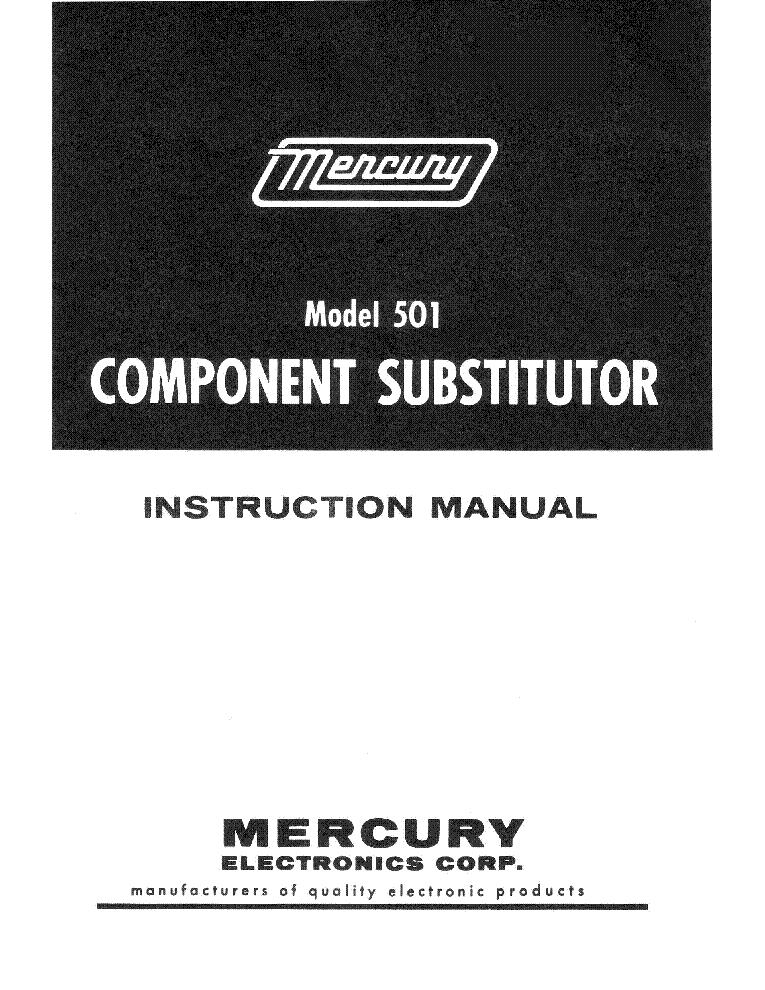 Mercury 1101 Tube Tester Tube Chart 2010 Sm Service Manual border=
