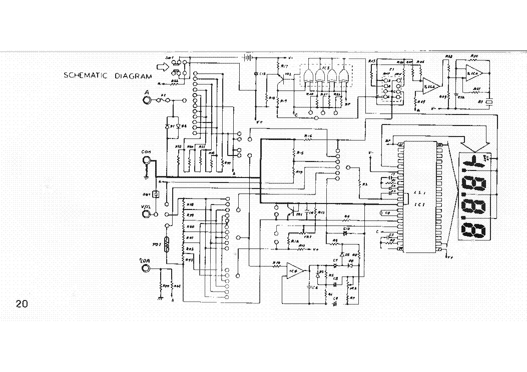 Digital Multimeter Circuit Diagram   Metex M3860m Multimeter Sch Service Manual Download Schematics