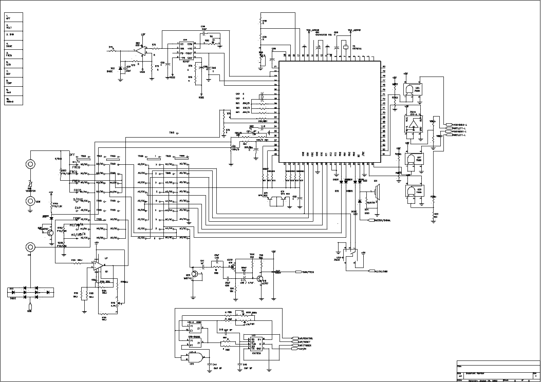 metex m3610d m3650d sch service manual free download  schematics  eeprom  repair info for