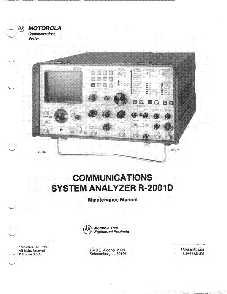 Motorola R1013a Sinad Meter Service Manual Download  Schematics  Eeprom  Repair Info For
