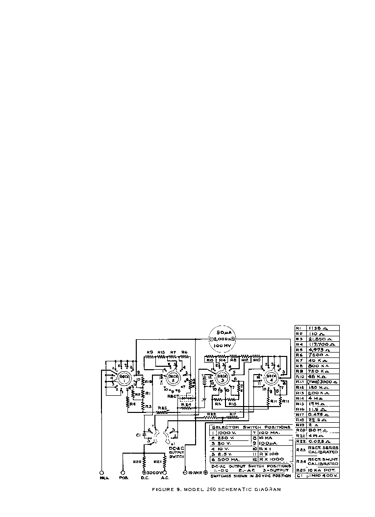 SIMPSON 260-2 ANALOG MULTIMETER SCH service manual (1st page)