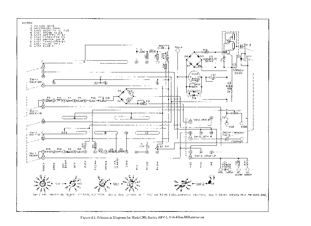 simpson 260 multimeter schematic simpson 5 series schematic