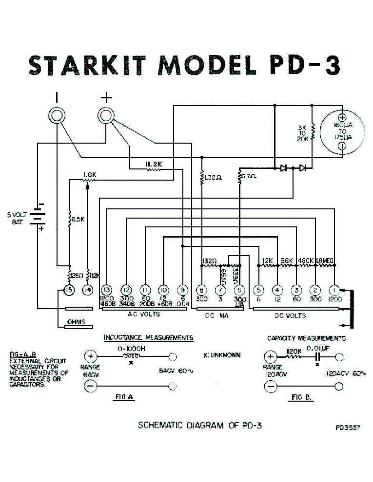 STARKIT PD-3 AC-DC V-A-OHM METER SCH Service Manual download ... on