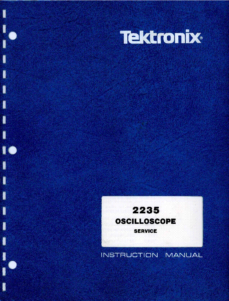 TEKTRONIX 2235 SM service manual