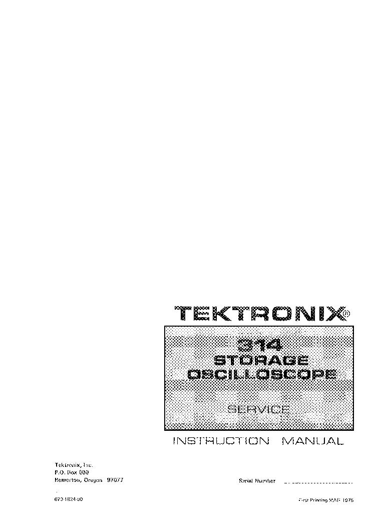 Sony tektronix 314 storage oscilloscope service manual $12. 50.