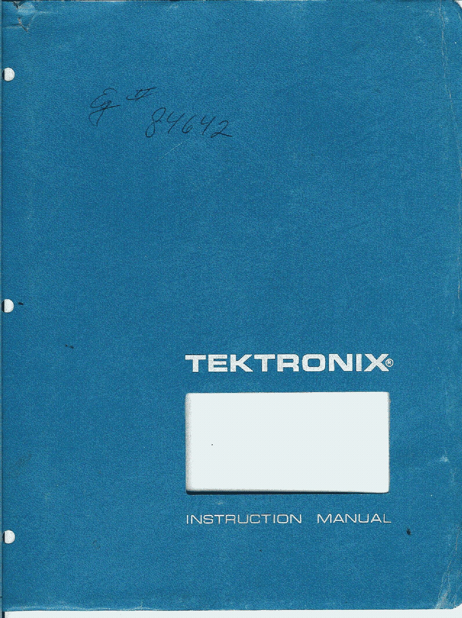 tektronix 465 oscilloscope full sm service manual download rh elektrotanya com tektronix 465 manual service tektronix 465b manual pdf