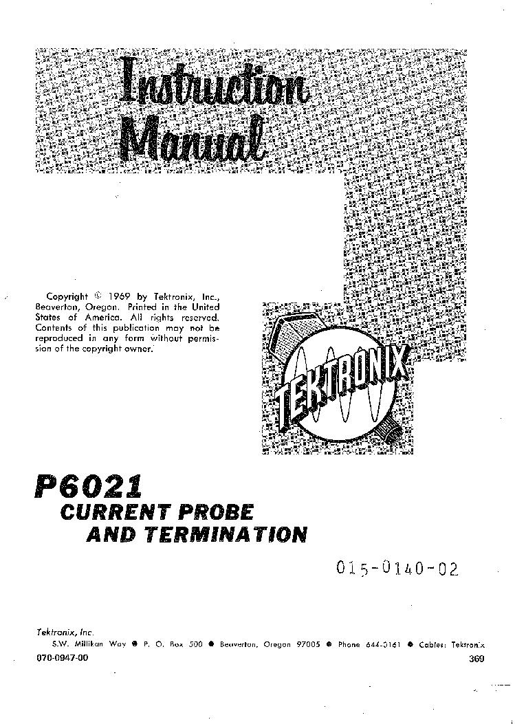 TEKTRONIX MANUAL Pdf Download