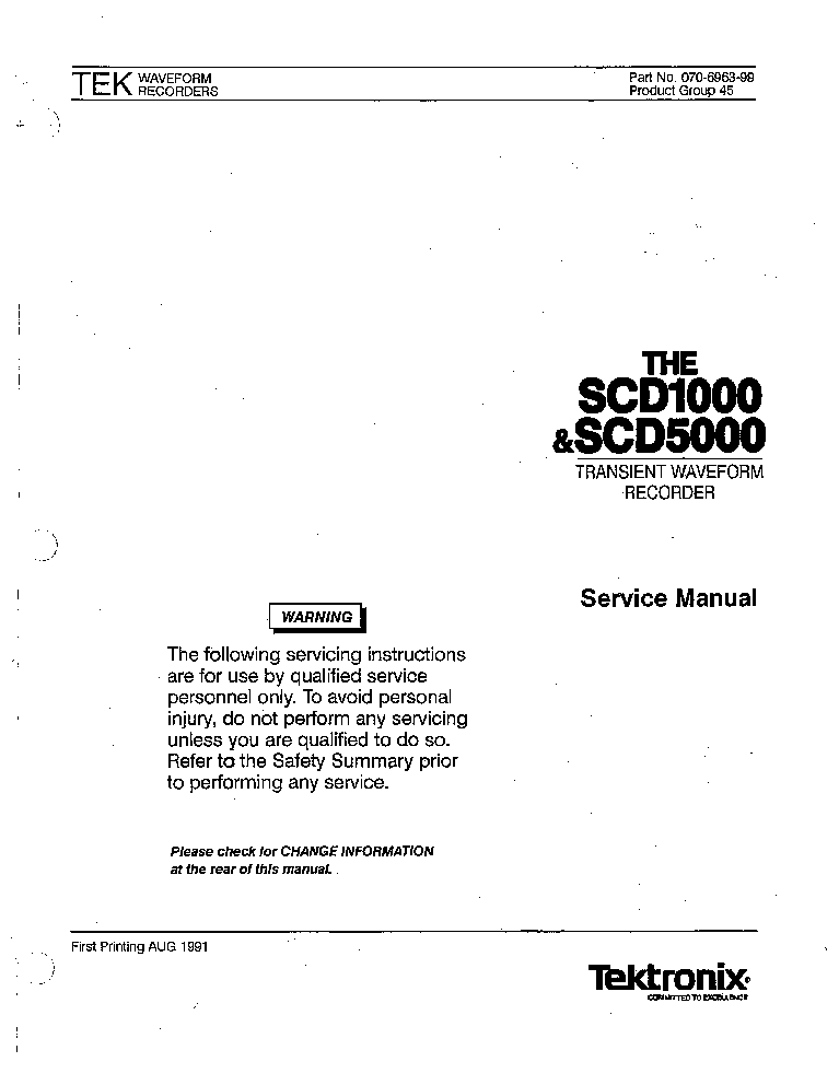 TEKTRONIX SCD1000 SCD5000 SM service manual