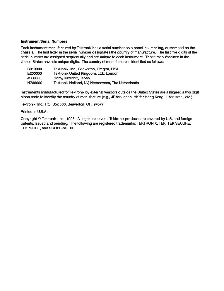 TEKTRONIX TDS310 TDS320 TDS350 Service Manual download, schematics on