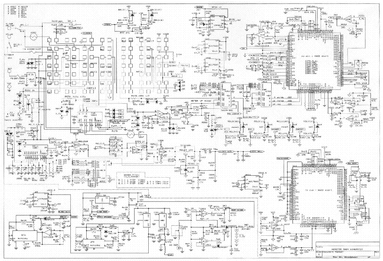 voltcraft dmm vc920 960 sch service manual free download  schematics  eeprom  repair info for