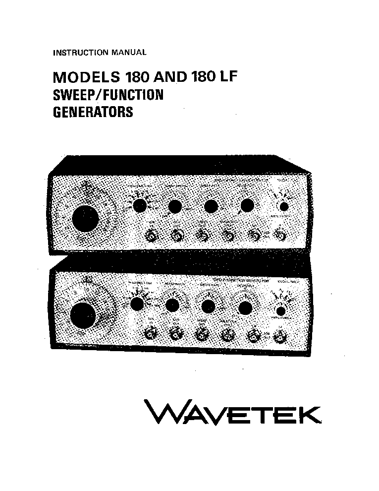 wavetek 180 180lf sweep and function generator service manual rh elektrotanya com feeltech function generator manual function generator manual pdf