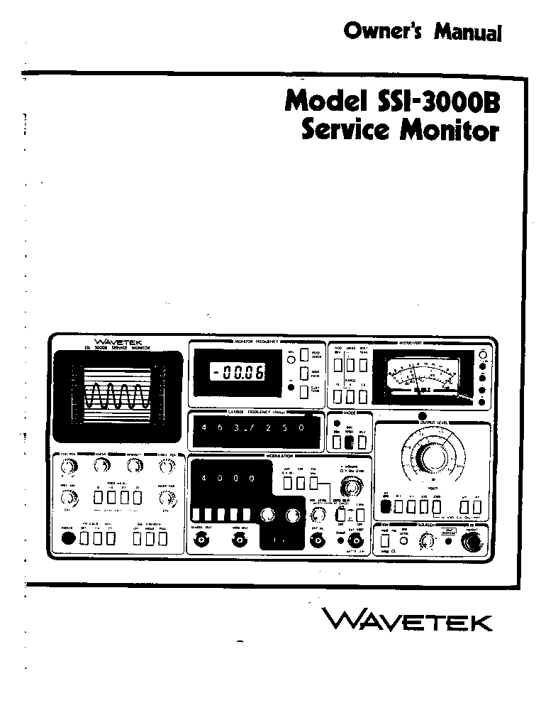 wavetek 3001 3002 sm service manual download  schematics  eeprom  repair info for electronics