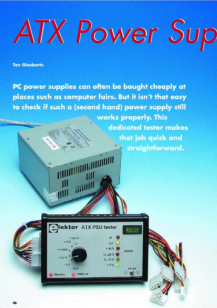 ATX POWER-SUPPLY TESTER Service Manual download, schematics, eeprom ...