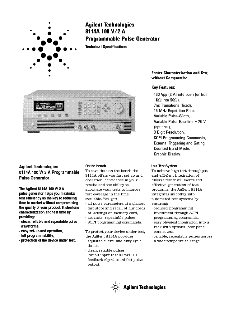 Agilent 8114a Service Manual Download  Schematics  Eeprom