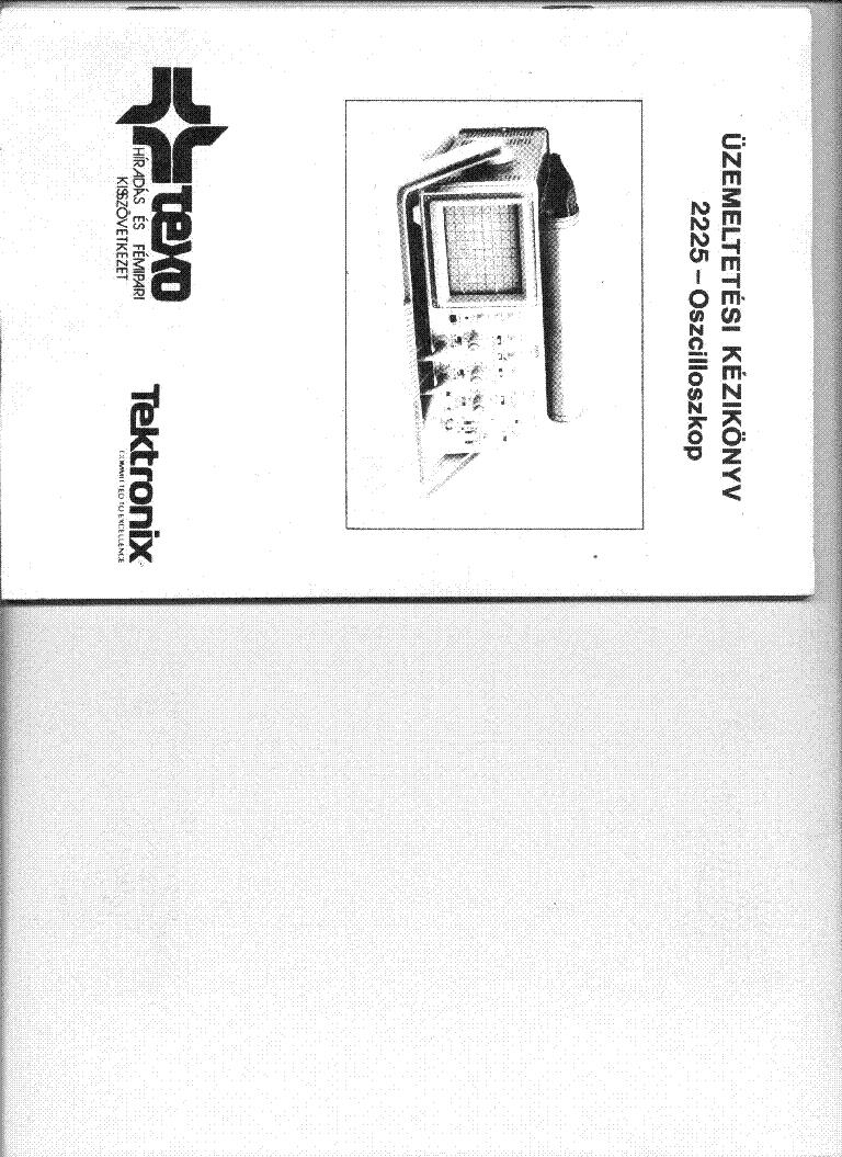 Tektronix 2225 service manual pdf