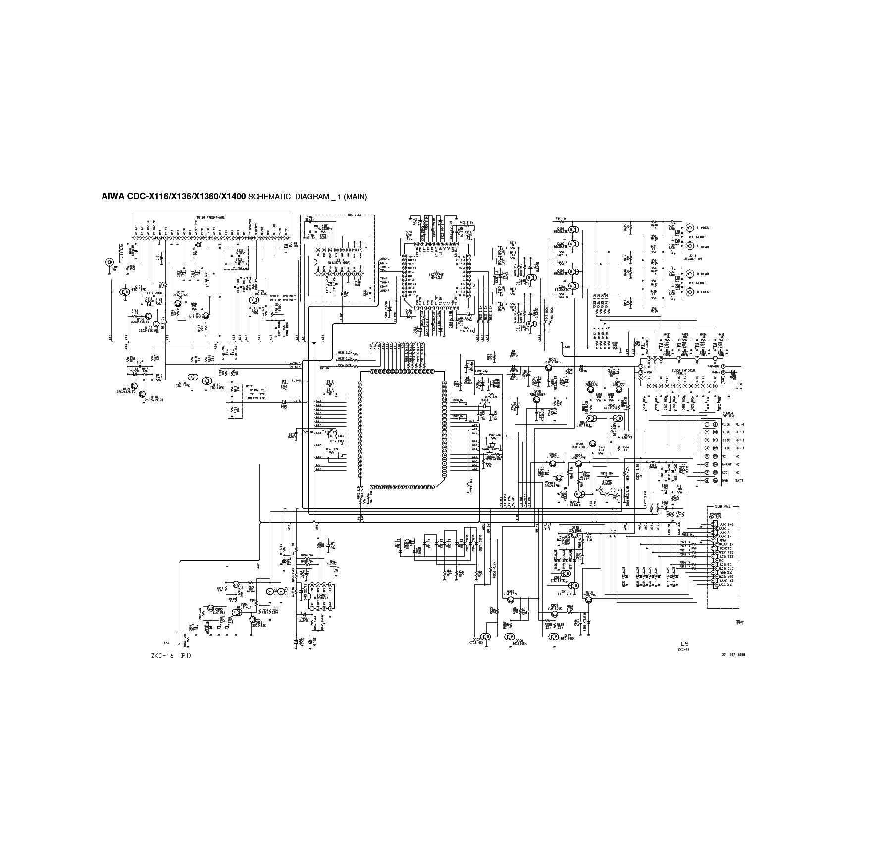 AIWA-CDC-X116-136 1360 1400 SCH service manual (1st page)